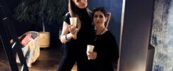 Фото с Farsaneh Shafiee во время съемки fashion фильм для ее коллекции одежды